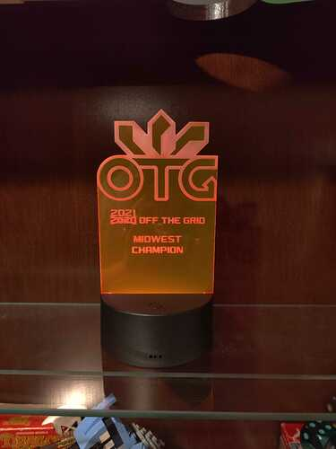 OTG Trophy First Place